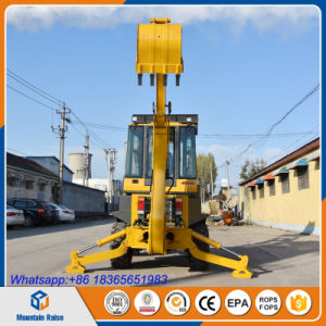 Hydraulic Joystick Brand Mountain Raise Backhoe Loader with Price pictures & photos