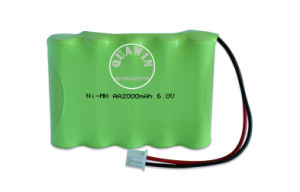 High Energy 6V AA 2000mAh Ni-MH Rechargeable Battery Pack pictures & photos