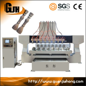 2012-8, Multi-Spindle, Wood, Soft Metal, 3D Rotary 4 Axis CNC Router pictures & photos