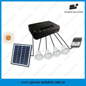 Solar Home Lighting System Can Light up 4 Rooms for 8 Hours with Phone Charger pictures & photos