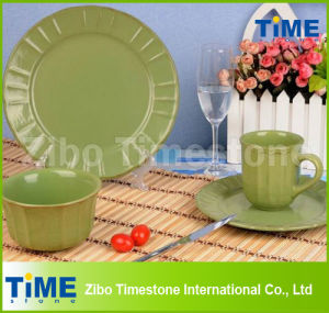 16-Piece Eco Ware Green Stoneware Dinner Ware pictures & photos
