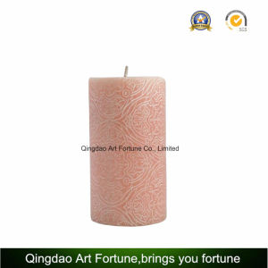 Carved Pillar Candle with Embossed Pattern and Painted with Gold Lacker pictures & photos