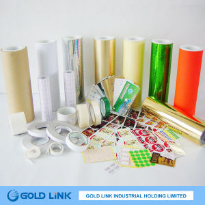 Self Adhesive Paper with Semigloss Paper Front pictures & photos