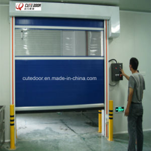 PVC Fabric Fast Acting Rolling Shutter Door for Clean Room pictures & photos