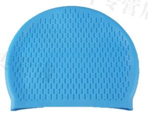 Silicone Woman′s Long Hair Swimming Cap pictures & photos