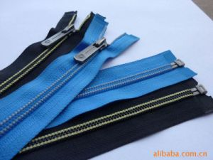 Blue and Black Open End Nylon Zipper Long Chain pictures & photos