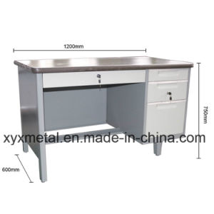 Cheap Office Desk/Metal Office Desk/3 Drawer Metal Office Table pictures & photos