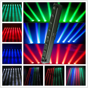 Guangzhou Hot Disco Light 8PCS Full Color RGBW LED Beam Moving Head Beam Light with Ce RoHS pictures & photos