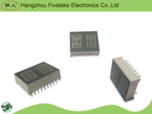 "0.53"" Dual Digit 14 Segment Alphanumeric LED Display Module (WD05321-A/B) pictures & photos"