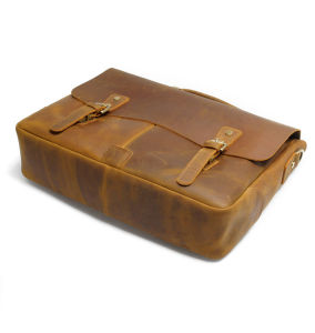 Good Quality Italy Crazy Horse Leather Messenger Bag Briefcase pictures & photos