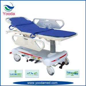 Manual Height Adjustable Transfer Stretcher with Fifth Wheel pictures & photos