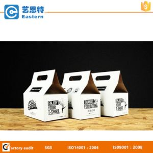 Food Packing Corrugated Kraft Handle Paper Box pictures & photos
