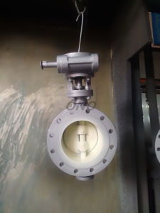 Wafer Gear Butterfly Valve with Flange pictures & photos