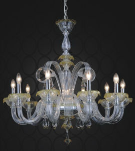 New Style Glass Pendant Lighting for Hotel Chandelier (81114-10) pictures & photos