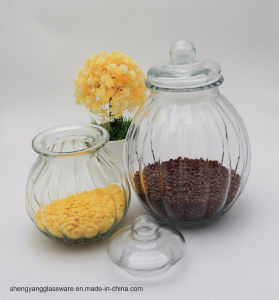 Pumpkin Glass Food Storage Jar with Airtight Glass Lid pictures & photos