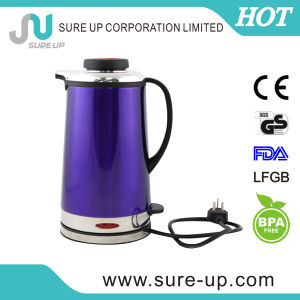 Double Wall Stainless Steel Electric Water Kettle Electric Travel Kettle pictures & photos