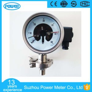 4′′ 100mm Stainless Steel Electric Contact Diaphragm Pressure Gauge pictures & photos