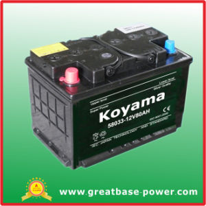 High Quality Sealed Maintenance Free Auto Car Battery Nx120-7-Mf-80ah 12V pictures & photos