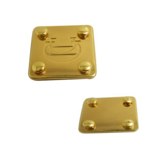 Gold Luxurious Metal Label Metal Plate for Bags pictures & photos