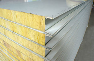 China sound insulation and fireproof mineral wool sandwich for Steel wool insulation