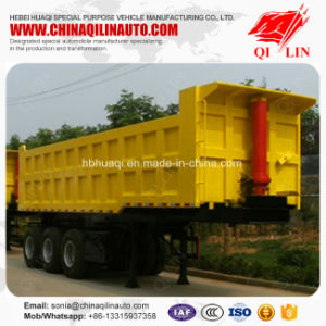 Agricultural Utility Dump Tipper Trailer with Hydraulic Cylinder pictures & photos