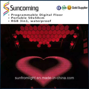 SD Control P62.5 Tempered Glass LED Dance Floor pictures & photos