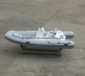 Aqualand 16feet 4.7m Fiberglass Rigid Inflatable Boat/Rib Fishing Boat (RIB470C) pictures & photos