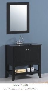 Modern Vanity Bathroom Cabinet with Glass Sink pictures & photos