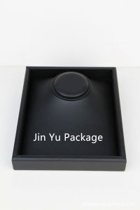 Black PU Leather Wooden Jewelry Display Tray for Ring, Bracelet, Watch pictures & photos