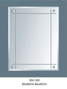 Bathroom Silver Mirror Beveled Mirror