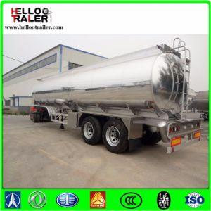 Double Axle 42000L Aluminum Alloy Fuel Tanker Semi Trailer pictures & photos