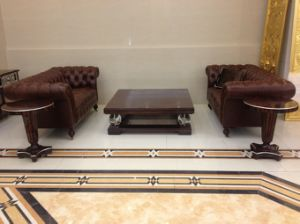 Hotel Living Room Sofa/Antique Sofa for Hotel/Hotel Lobby Sofa and Table Furniture- (GLSTZT-01002) pictures & photos