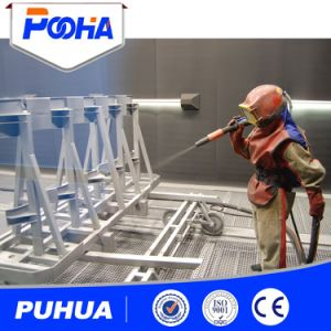 Manual Sand Blasting Booth with Sand Blaster (Q26) pictures & photos