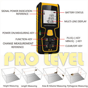 60m Automatic Reliable Laser Distance Meter (K3) pictures & photos
