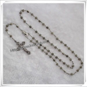 Antique Rose Flower Shape Alloy Metal Beads Rosary (IO-cr043) pictures & photos