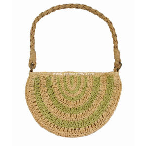 Crochet Tote Bag with Braided Handle