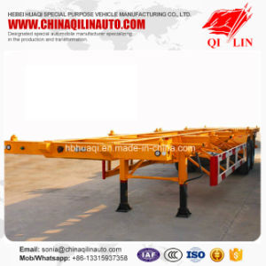 Cheap Price 2 Axles 20FT 40FT Container Skeleton Semi Trailer pictures & photos