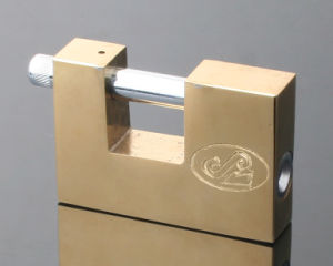 Gold Plated Rectangular Iron Padlock (VRP) pictures & photos