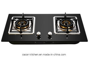 Black Anti-Explosion Stalinite Panel Gas Stove (JZY-2-R01E) pictures & photos