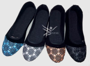 Hot Seller Women Canvas Shoes Slipper (HY13I) pictures & photos