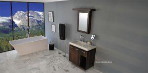 Customizable Solid Wood Veneer Vanity Bathroom Cabinet Sanitary Ware