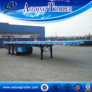 China Supplier 40ft New Flatbed Semi Trailer with Container Lock pictures & photos
