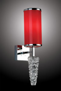 Stainless Steel Wall Light with Red Fabric Shade pictures & photos