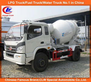Foton 6 Wheels 4cbm Mini Concrete Cement Mixer Truck pictures & photos