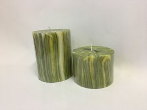 Stripe Designed Pillar Craft Candle pictures & photos