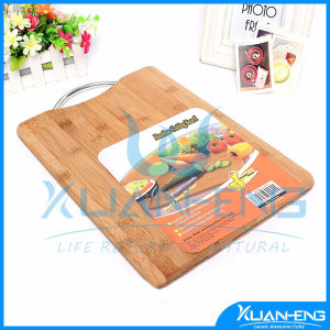 Hot Sale Bamboo Cutting Board with Handle pictures & photos