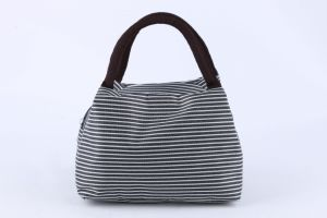 Promotional Factory Direct Sale Stripped Lunch Bag Handbag Fashion pictures & photos