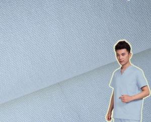 White Cotton Plain Patient Clothing Fabric pictures & photos