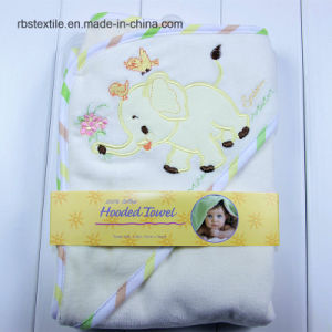High Quality Baby Velour / Cotton Swaddle Blanket Hooded Poncho pictures & photos