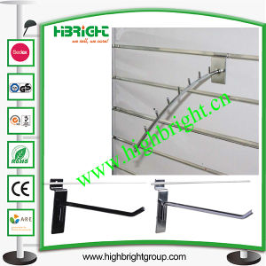 Metal Chrome Single Prong Hook of Slatwall Display Shelf pictures & photos